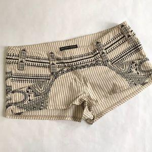5/$20 Topshop Kate Moss 10 Short Shorts tan black
